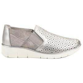 Filippo szürke Ezüst Slip On cipő