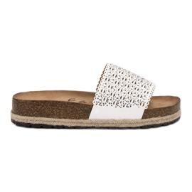 Goodin otvorene bijele ženske papuče bijela