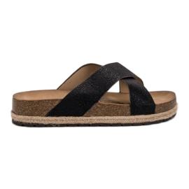 Goodin crna Udobne crne papuče
