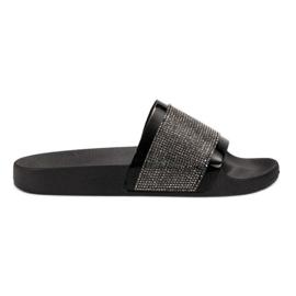 Papuče s VICES cirkonima crna