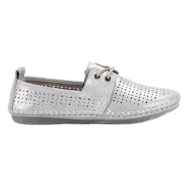 Siva Kožne cipele VINCEZA