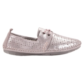 Roze Kožne cipele VINCEZA