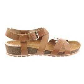 Barna Big Star női teve cipő 274A010
