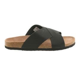 Crna Muške profilirane papuče Big Star 174603 crne