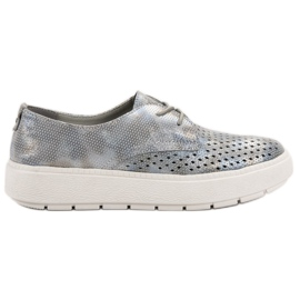 Goodin Lagane cipele od kože siva