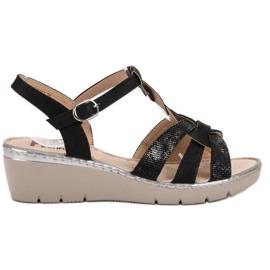 Kylie Lagane sandale crna