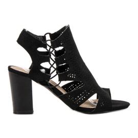 Goodin Modne crne sandale crna