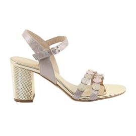 Női cipő ezüstös rózsaszín Gamis 3658