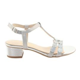 Ženske sandale pruga Gamis 3661 biser siva