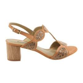 Smeđ Ženske sandale toffee / panther Anabelle 1352