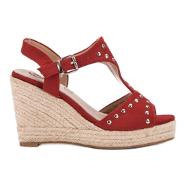 Kylie crvena Sandale s mlazevima