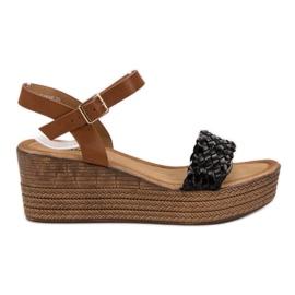 Seastar crna Lagane sandale