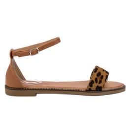 Laura Mode smeđ Klasične ravne sandale
