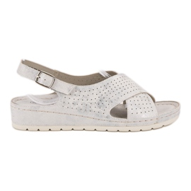 Goodin Sandale na platformi bijela