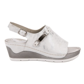 Goodin bijela Udobne sandale na klin