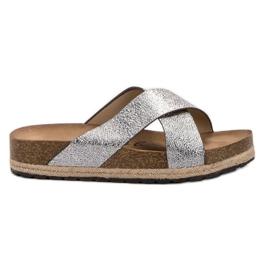 Goodin Udobne srebrne papuče siva