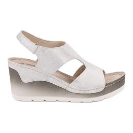 Goodin Udobne sandale na klin bijela