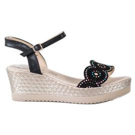 Kylie Ležerne sandale crna