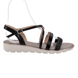 Kylie crna Crne sandale na platformi