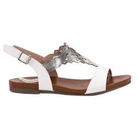 Kylie bijela Stilske ravne sandale