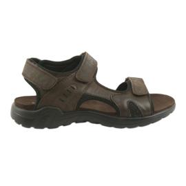 American Club Američke kožne sportske sandale CY11 smeđe