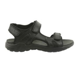 American Club crna Američke kožne sportske sandale CY11 crne