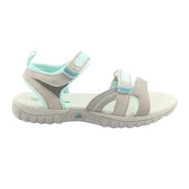 Djevojke sandale American Club HL14 siva / menta