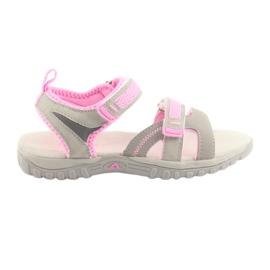 Djevojke sandale American Club sive / ružičaste
