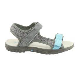 Sandale s usnim umetkom American Club RL10 siva / plava