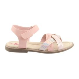 Roze Sandale metalne djevojke American Club GC23
