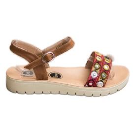 SHELOVET Ležerne sandale smeđ
