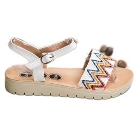 SHELOVET bijela Ležerne sandale