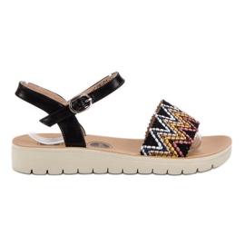 SHELOVET crna Ležerne sandale