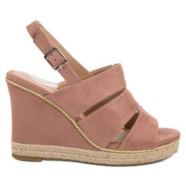 Primavera roze Puderaste sandale
