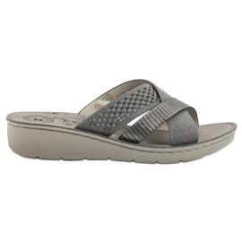 Evento siva Udobne sive papuče