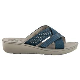 Evento plava Udobne plave papuče