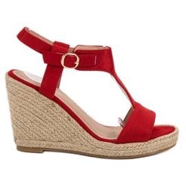Anesia Paris crvena Modne sandale s klinom