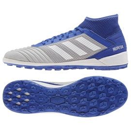 Nogometne čizme adidas Predator 19.3 Tf M BC0555 plava, siva / srebrna plava