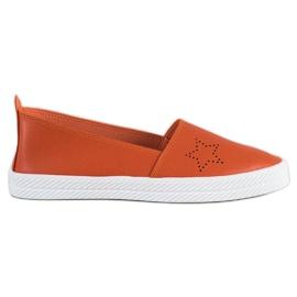 Kylie narancs Slip-on cipők