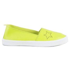 Kylie zöld Slip-on cipők