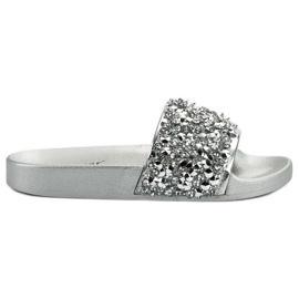 Seastar szürke Elegáns ezüst papucs