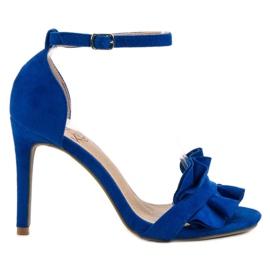 Kylie kék Szandál egy pálcikával egy frill