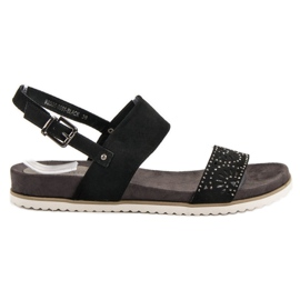 Evento crna Crne sandale na otvorenom
