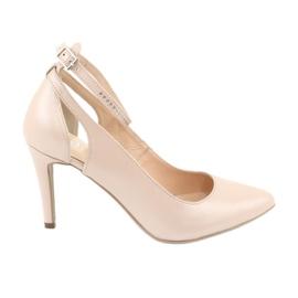 Barna Női cipő Edeo 3212 bézs gyöngy