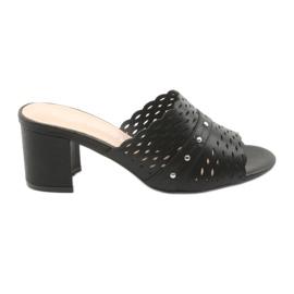 Crna Ženske crne papuče Sergio Leone KL319