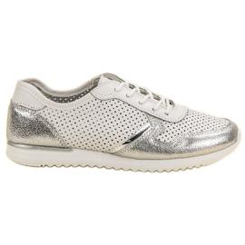 Filippo Ezüst bőr cipő