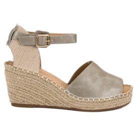 Evento siva Ležerne sandale s klinom