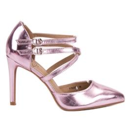 Kylie rózsaszín Fényes Divat Studs