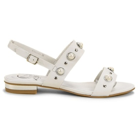Kylie Udobne ravne sandale bijela