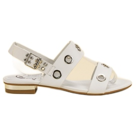 Kylie Ležerne bijele sandale bijela